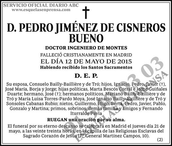 Pedro Jiménez de Cisneros Bueno